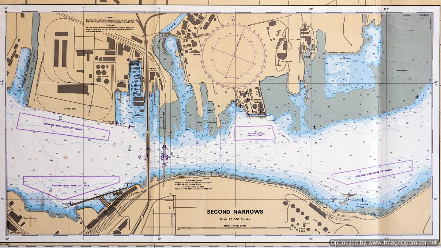 Vancouver Harbour 2nd Narrows inset chart 3494